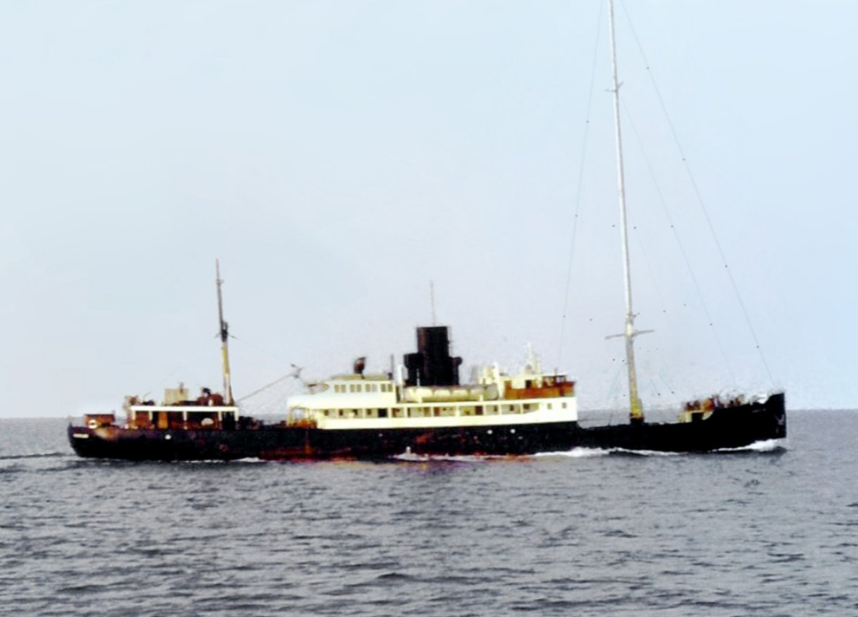 MV Fredericia (1964-1967) The original Caroline radio ship